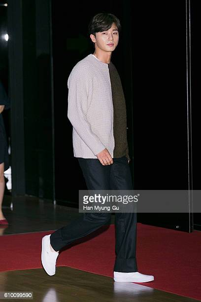 South Korean actor Park SeoJun attends the VIP screening of 'ASURAThe City Of Madness' on September 23 2016 in Seoul South Korea