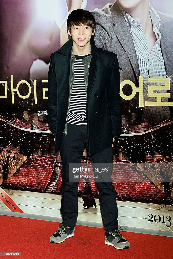 South Korean actor Park Yu-Hwan (Ricky Park) attends the 'My Little Hero' VIP Screening at CGV on January 3, 2013 in Seoul, South Korea. The film will open on January 09 in South Korea.