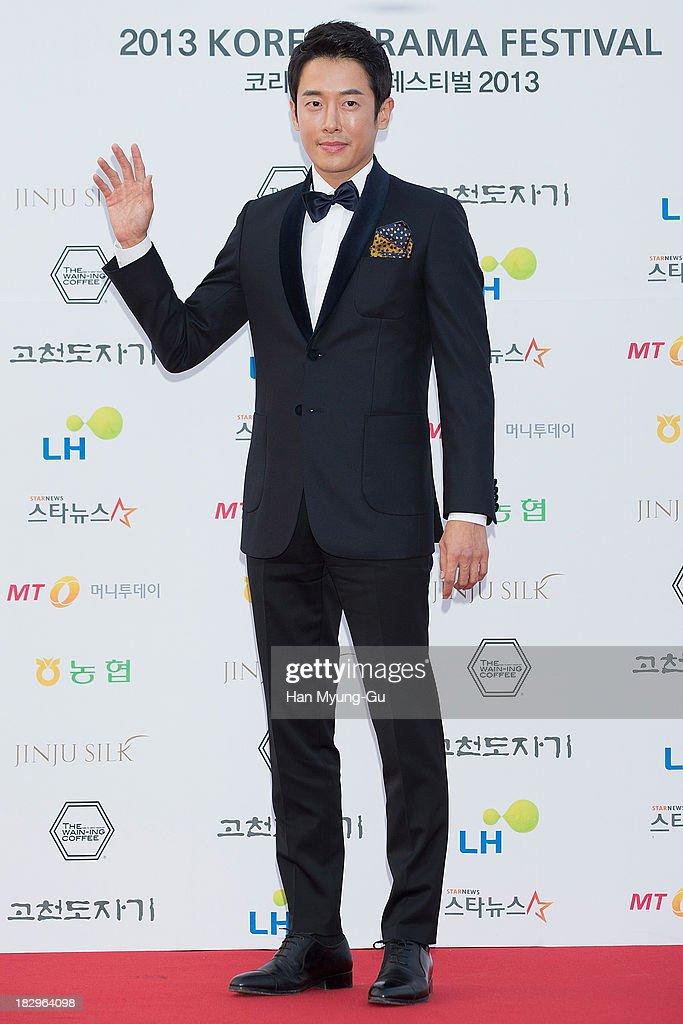 South Korean actor Pillip Choi arrives for photographs at 2013 Korea Drama Awards at Jinju Arena on October 02 2013 in Jinju South Korea