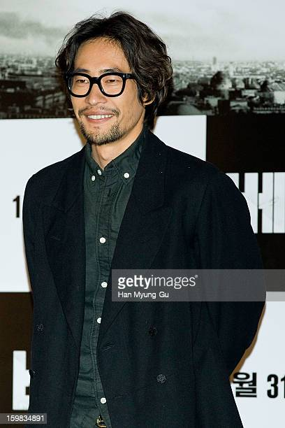 South Korean actor Ryoo SeungBeom attends 'The Berlin File' Press Screening at CGV on January 21 2013 in Seoul South Korea The film will open on...