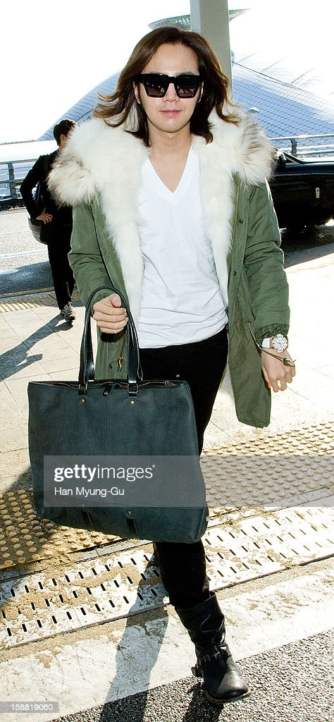 South Korean actor & singer Jang Keun-Suk is Seen at Incheon International Airport on December 30, 2012 in Incheon, South Korea.