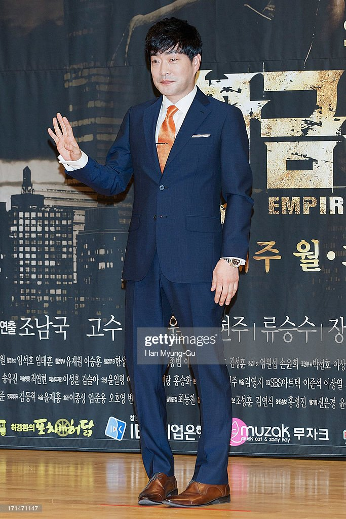 South Korean actor Son Hyun-Joo (Son Hyun-Ju) attends during the SBS Drama 'Empire of Gold' press conference on June 25, 2013 in Seoul, South Korea. The drama will open on July 01 in South Korea.