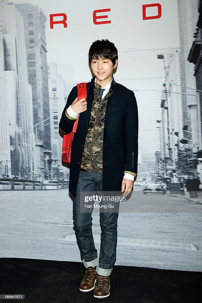 South Korean actor Song Joong-Ki attends a promotional event for the 'Samsonite RED' Launching on February 7, 2013 in Seoul, South Korea.