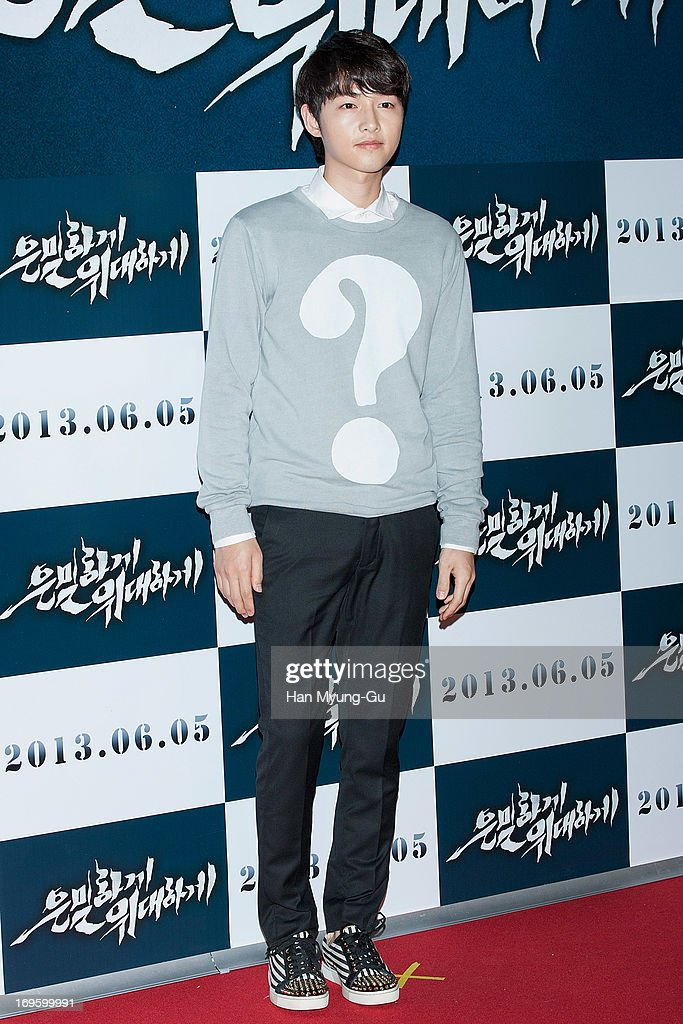 South Korean actor Song Joong-Ki attends the 'Secretly Greatly' VIP Screening at Mega Box on May 27, 2013 in Seoul, South Korea. The film will open on June 05 in South Korea.