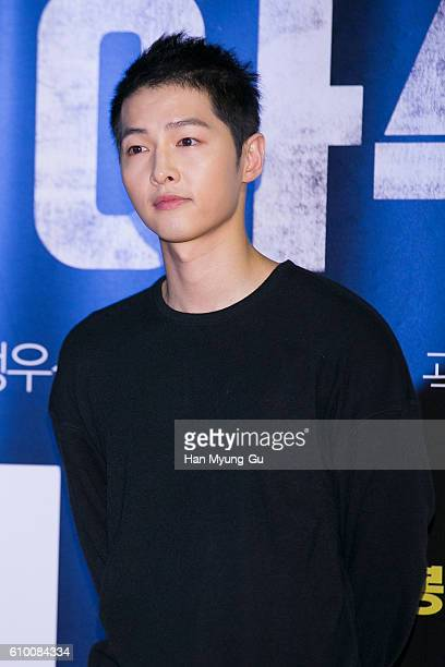 South Korean actor Song JoongKi attends the VIP screening of 'ASURAThe City Of Madness' on September 23 2016 in Seoul South Korea