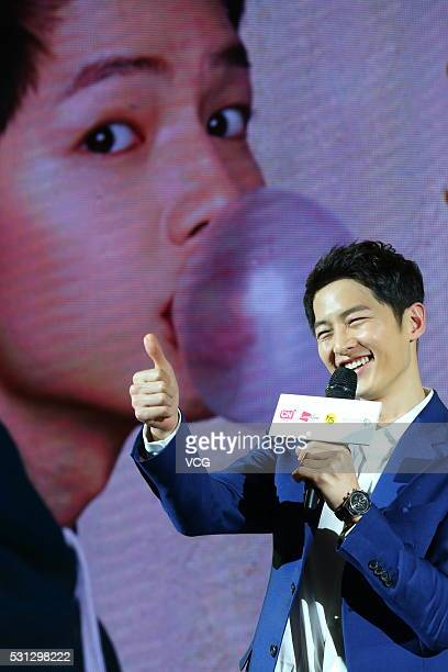South Korean actor Song Joongki meets fans on May 13 2016 in Beijing China