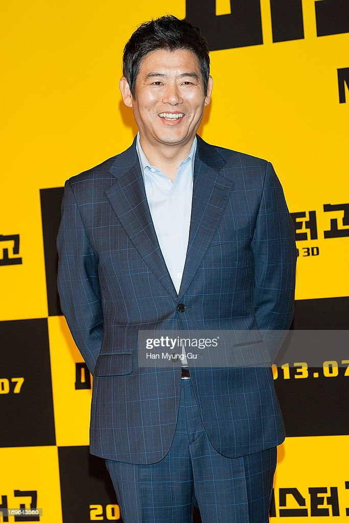 South Korean actor Sung Dong-Il attends during a promotional event for the 'Mr. Go' Showcase at the Westin Chosun Hotel on May 29, 2013 in Seoul, South Korea. The film will open in July in South Korea.