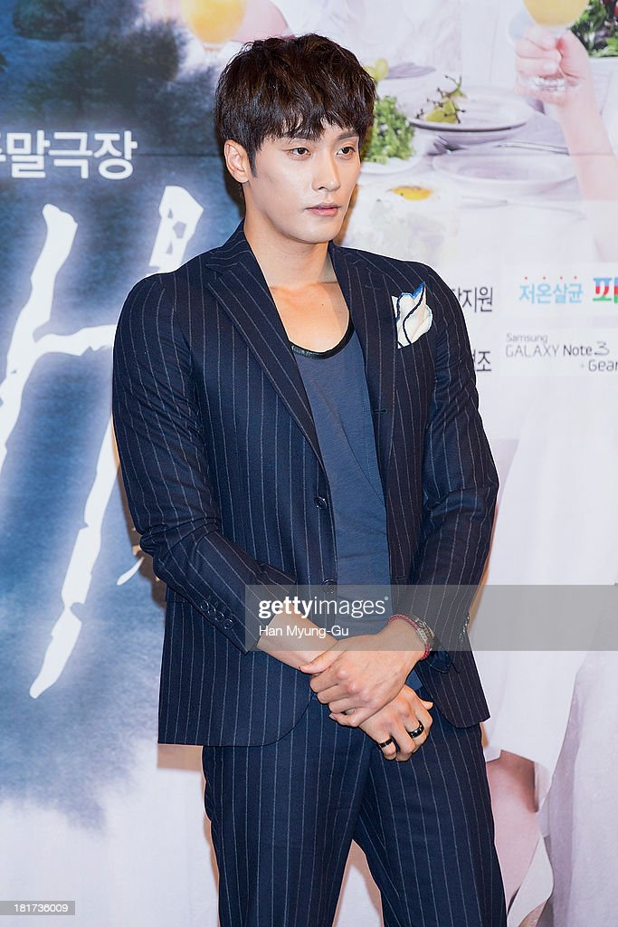 South Korean actor Sung Hoon attends SBS Drama 'Hot Love' press conference at 63 building on September 23, 2013 in Seoul, South Korea. The drama will open on September 28, in South Korea.