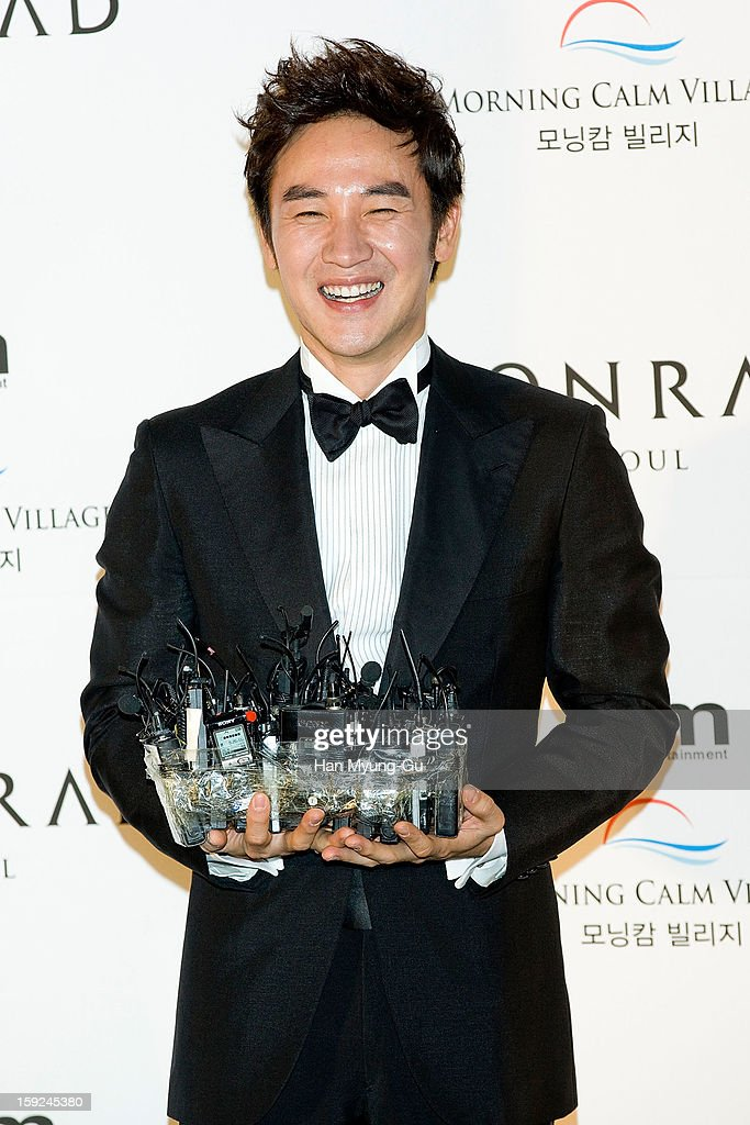 South Korean actor <a gi-track='captionPersonalityLinkClicked' href=/galleries/search?phrase=Uhm+Tae-Woong&family=editorial&specificpeople=4438831 ng-click='$event.stopPropagation()'>Uhm Tae-Woong</a> poses for Media prior to his wedding at Conrad Hotel on January 9, 2013 in Seoul, South Korea.