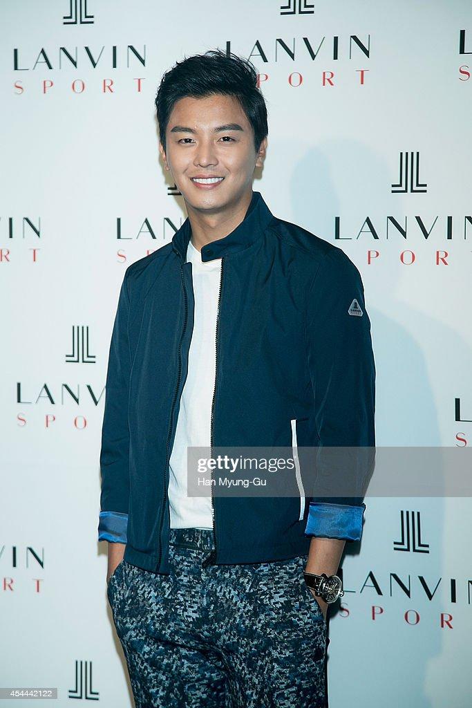 South Korean actor Yeon Woo-Jin attends 'Lanvin Sport' FW 2014 Grand Open on August 29, 2014 in Seoul, South Korea.