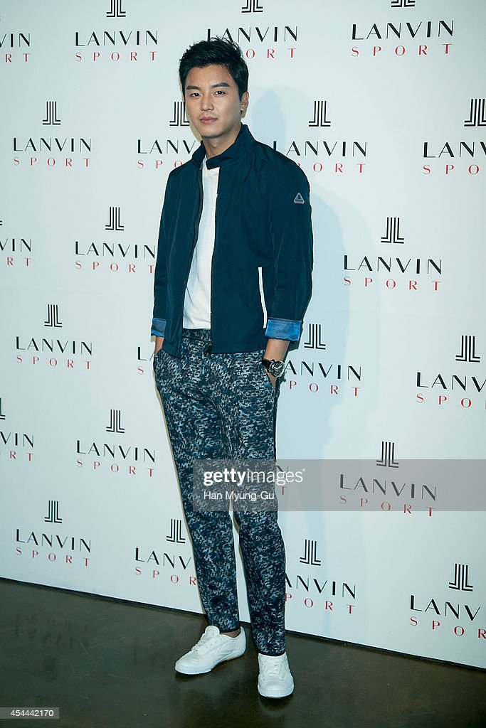 South Korean actor Yeon Woo-Jin attends 'Lanvin Sport' FW 2014 Grand Open on August 29, 2014 in Seoul, South Korea.