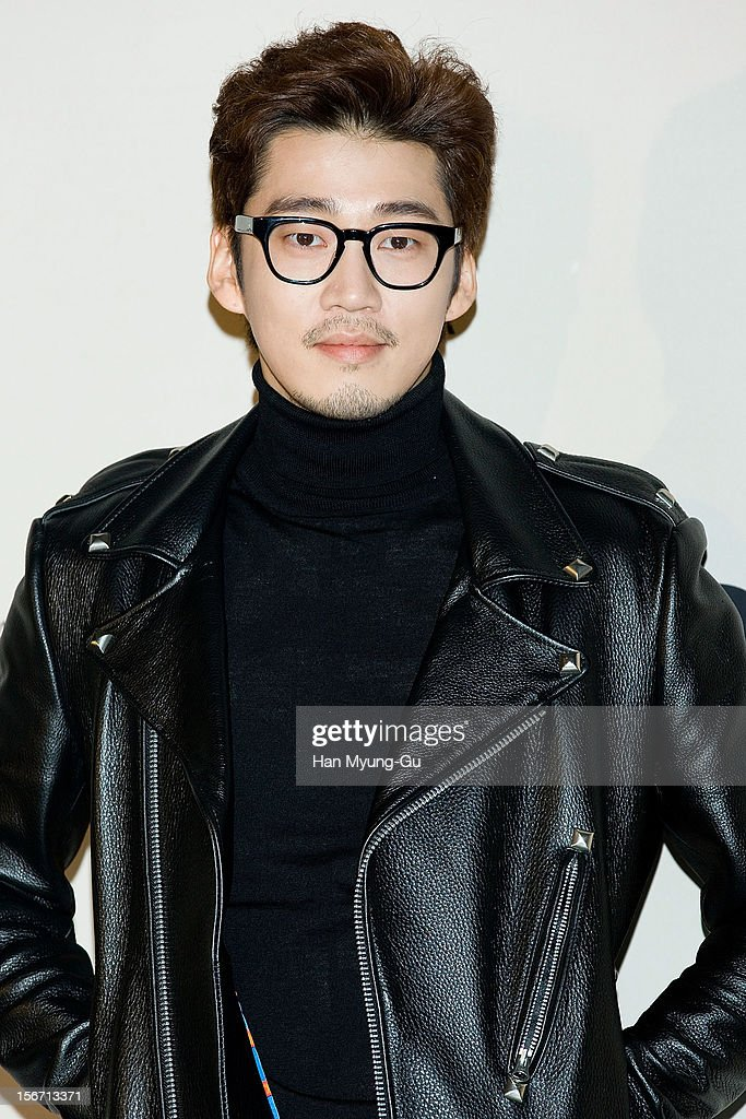 South Korean actor <a gi-track='captionPersonalityLinkClicked' href=/galleries/search?phrase=Yoon+Kye-Sang&family=editorial&specificpeople=6357278 ng-click='$event.stopPropagation()'>Yoon Kye-Sang</a> attends during a promotional event of the 'Jardin de Chouette' 2013 S/S Collection at AX Korea on November 19, 2012 in Seoul, South Korea.