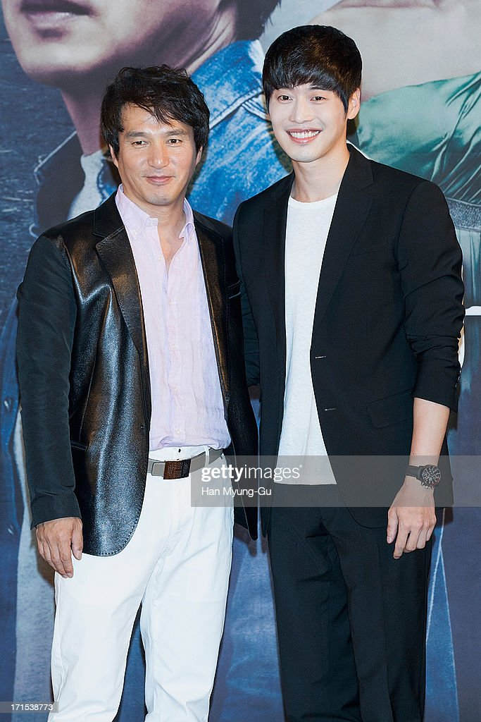 South Korean actors Cho Jae-Hyun and <a gi-track='captionPersonalityLinkClicked' href=/galleries/search?phrase=Kim+Jae-Won&family=editorial&specificpeople=2550526 ng-click='$event.stopPropagation()'>Kim Jae-Won</a> attend during the MBC Drama 'Scandal' Press Conference on June 26, 2013 in Seoul, South Korea. The drama will open on June 29 in South Korea.