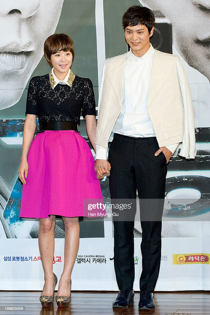 South Korean actors Choi Gang-Hee (Choi Kang-Hee) and Joo Won attend the MBC Drama '7th Grade Civil Servant' Press Conference at 63 Building on January 21, 2013 in Seoul, South Korea. The drama will open on January 23 in South Korea.
