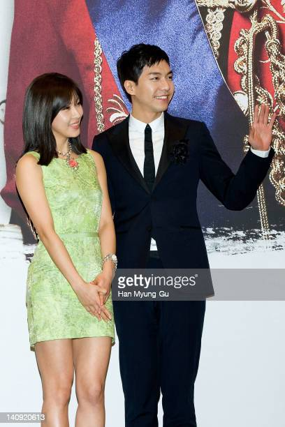 South Korean actors Ha JiWon and Lee SeungGi attends a press conference to promote MBC drama 'The King 2Hearts' at Imperial Palace Hotel on March 08...