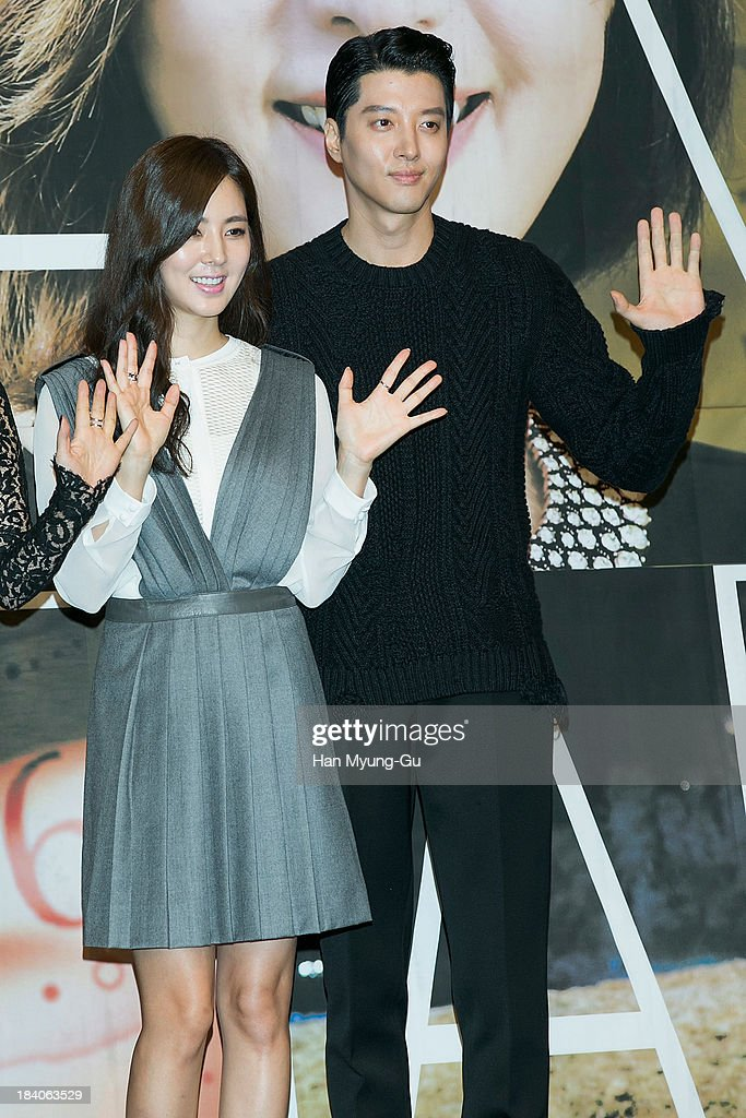 South Korean actors Han Chae-A and Lee Dong-Gun attend KBS Drama 'The Choice Of The Future' Press Conference on October 10, 2013 in Seoul, South Korea. The drama will open on October 14, in South Korea.