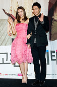 South Korean actors Han ChaeYoung and Jo HyunJae attend the KBS2 Drama 'AD Genius Lee TaeBaek' Press Conference at Conrad Hotel on January 30 2013 in...