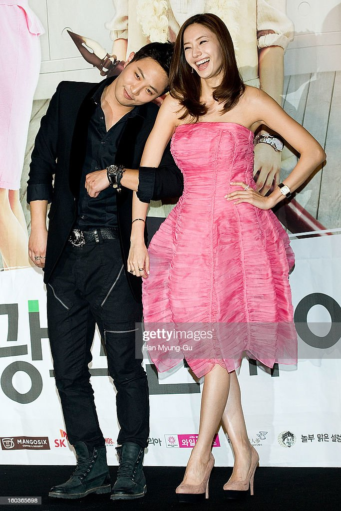 South Korean actors Jin Goo and Han Chae-Young attend the KBS2 Drama 'AD Genius Lee Tae-Baek' Press Conference at Conrad Hotel on January 30, 2013 in Seoul, South Korea. The drama will open on February 04 in South Korea.