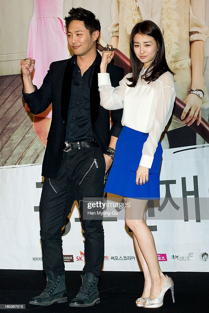 South Korean actors Jin Goo and Park Ha-Sun attend the KBS2 Drama 'AD Genius Lee Tae-Baek' Press Conference at Conrad Hotel on January 30, 2013 in Seoul, South Korea. The drama will open on February 04 in South Korea.