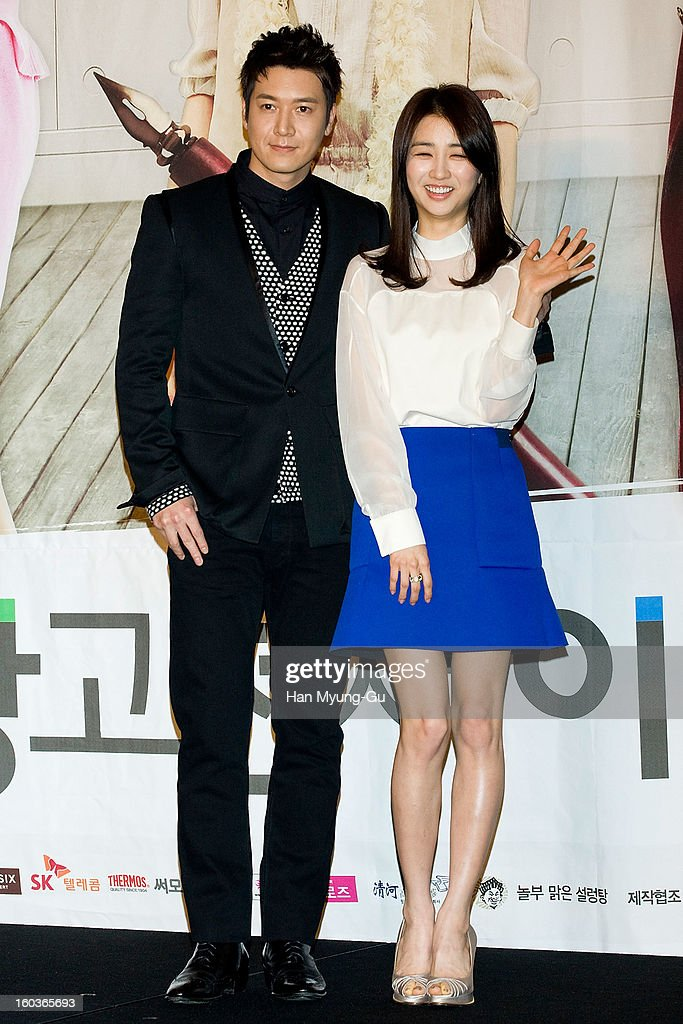 South Korean actors Jo Hyun-Jae and Park Ha-Sun attend the KBS2 Drama 'AD Genius Lee Tae-Baek' Press Conference at Conrad Hotel on January 30, 2013 in Seoul, South Korea. The drama will open on February 04 in South Korea.