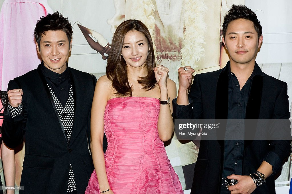 South Korean actors <a gi-track='captionPersonalityLinkClicked' href=/galleries/search?phrase=Jo+Hyun-Jae&family=editorial&specificpeople=4343711 ng-click='$event.stopPropagation()'>Jo Hyun-Jae</a>, <a gi-track='captionPersonalityLinkClicked' href=/galleries/search?phrase=Han+Chae-Young&family=editorial&specificpeople=829986 ng-click='$event.stopPropagation()'>Han Chae-Young</a> and <a gi-track='captionPersonalityLinkClicked' href=/galleries/search?phrase=Jin+Goo&family=editorial&specificpeople=5856942 ng-click='$event.stopPropagation()'>Jin Goo</a> attend the KBS2 Drama 'AD Genius Lee Tae-Baek' Press Conference at Conrad Hotel on January 30, 2013 in Seoul, South Korea. The drama will open on February 04 in South Korea.
