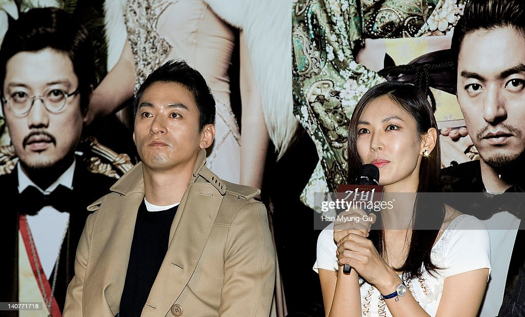 South Korean actors Joo Jin-Mo and <a gi-track='captionPersonalityLinkClicked' href=/galleries/search?phrase=Kim+So-Yeon&family=editorial&specificpeople=4531425 ng-click='$event.stopPropagation()'>Kim So-Yeon</a> attends the 'Gabi' (Coffee) Press Screening at CGV on March 06, 2012 in Seoul, South Korea. The film will open on March 15 in South Korea.