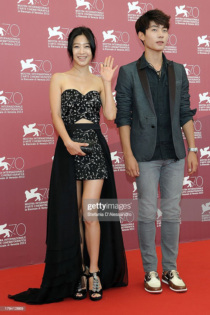 South Korean actors Lee Eun-woo and Seo Young-ju attend 'Moebius' Photocall during the 70th Venice International Film Festival at Palazzo del Casino on September 3, 2013 in Venice, Italy.