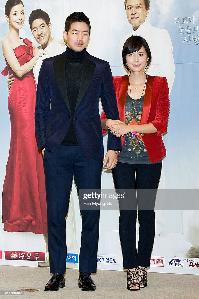 South Korean actors Lee Sang-Yun and Lee Bo-Young attend during a press conference to promote the KBS drama 'My Daughter, Seoyoung' on September 11, 2012 in Seoul, South Korea. The drama will open on September 15 in South Korea.