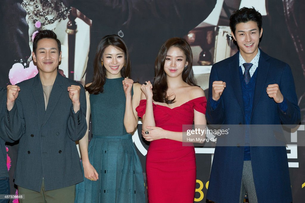 South Korean actors Lee Sun-Kyun, Lee Yeon-Hee, Ko Sung-Hee and Lee Ki-Woo attend the MBC Drama 'Miss Korea' press conference at Patio 9 on December 16, 2013 in Seoul, South Korea. The drama will open on December 18, in South Korea.