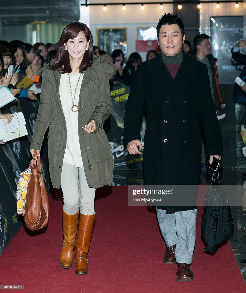 South Korean actors Oh Hyun-Kyung and Lee Sang-Hoon attend 'The Suspect' VIP screening at COEX Mega Box on December 17, 2013 in Seoul, South Korea. The film will open on December 24, in South Korea.
