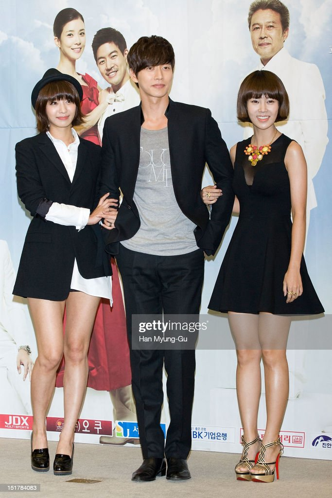 South Korean actors Park JungAh Park HaeJin and Choi YunYoung attend during a press conference to promote the KBS drama 'My Daughter Seoyoung' on...