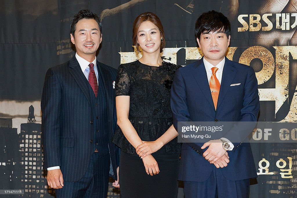 South Korean actors Ryu Seung-Soo, Jang Shin-Young and Son Hyun-Joo (Son Hyun-Ju) attend during the SBS Drama 'Empire of Gold' press conference on June 25, 2013 in Seoul, South Korea. The drama will open on July 01 in South Korea.