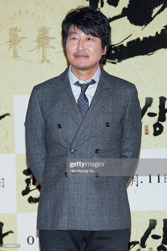 South Korean actors Song Kang-Ho attends 'The Face Reader' press screening at the MEGA Box on September 2, 2013 in Seoul, South Korea. The film will open on September 11, in South Korea.