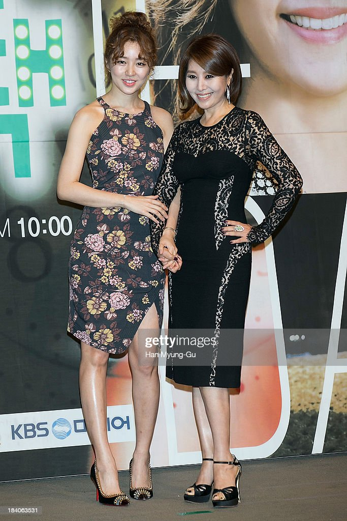 South Korean actors Yoon Eun-Hye and Choi Myoung-Gil attend KBS Drama 'The Choice Of The Future' Press Conference on October 10, 2013 in Seoul, South Korea. The drama will open on October 14, in South Korea.