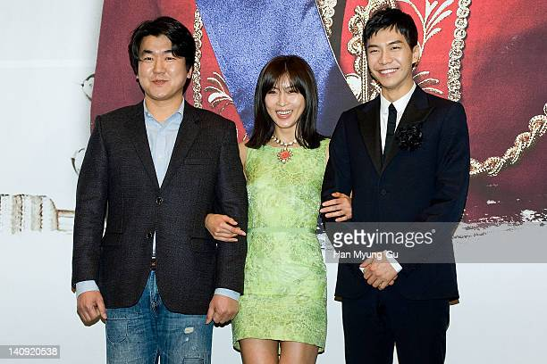South Korean actors Yoon JeMoon and Ha JiWon and Lee SeungGi attends a press conference to promote MBC drama 'The King 2Hearts' at Imperial Palace...