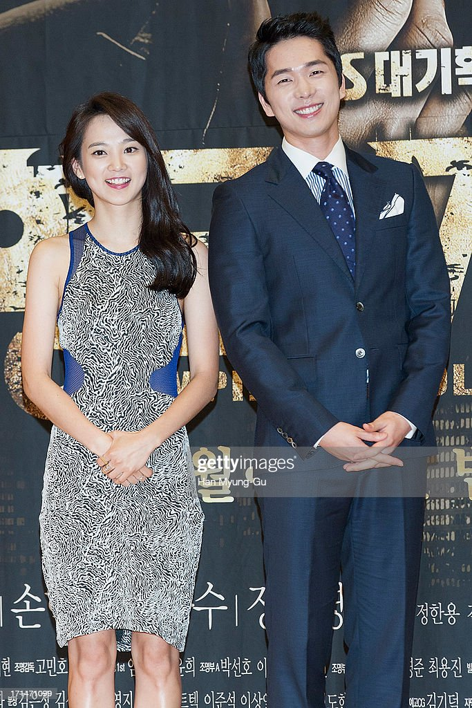 South Korean actors Yoon Seung-A and Lee Hyun-Jin attend during the SBS Drama 'Empire of Gold' press conference on June 25, 2013 in Seoul, South Korea. The drama will open on July 01 in South Korea.