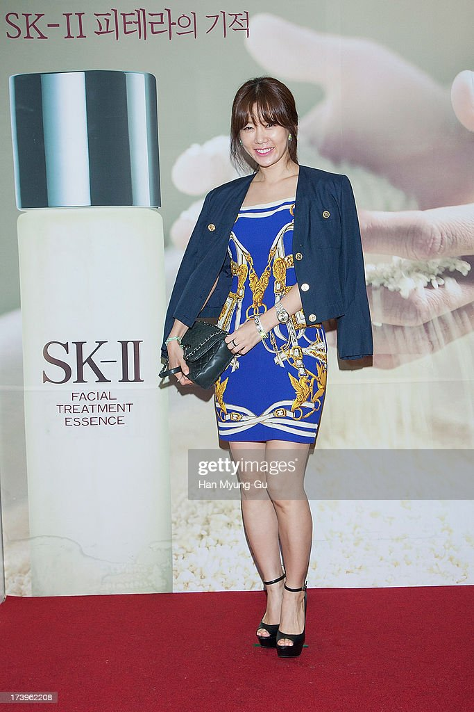 South Korean actress Ahn Sun-Young attends the SK-II 'Pitera House' Pop Up store opening on July 18, 2013 in Seoul, South Korea.