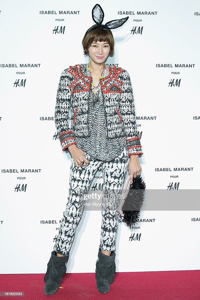 South Korean actress and model Byun Jung-Soo (Byun Jung-Su) attends Isabel Marant Pour H&M pre-shopping and party at Noon Square H&M Store on November 12, 2013 in Seoul, South Korea.