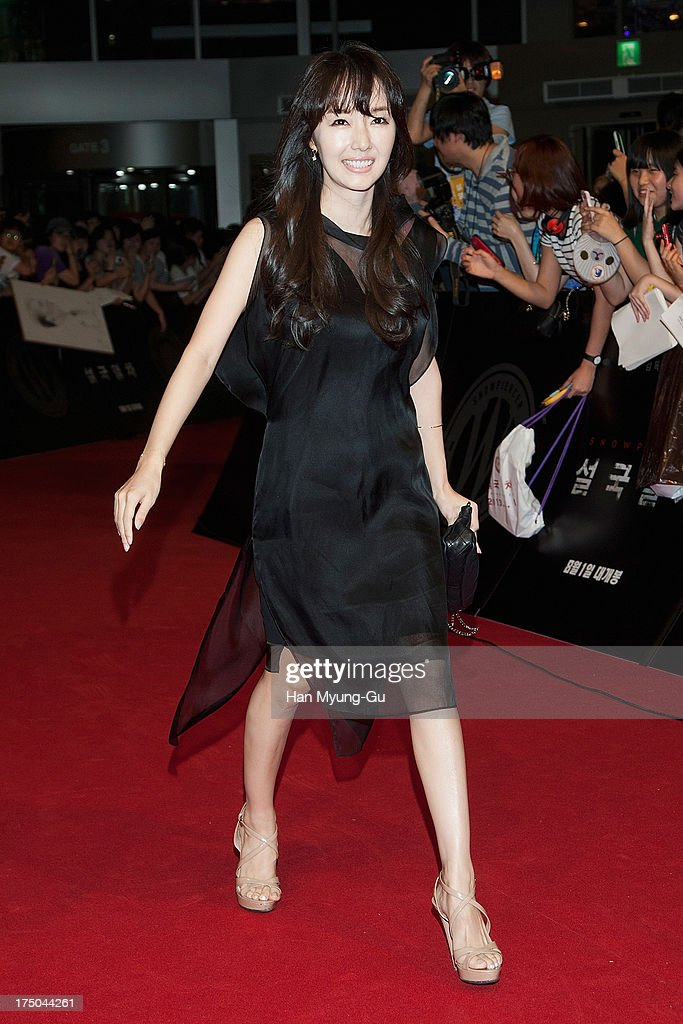 South Korean actress and singer Lee Jung-Hyun attends the 'Snowpiercer' South Korea premiere at Times Square on July 29, 2013 in Seoul, South Korea. The film will open on August 1, in South Korea.