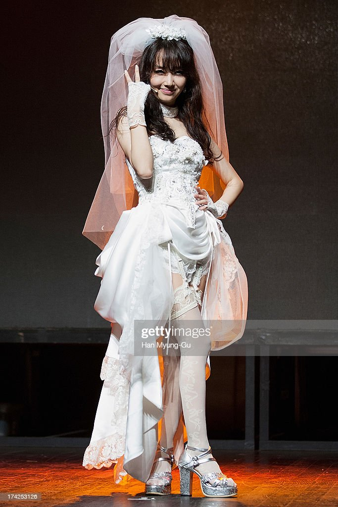 South Korean actress and singer Lee Jung-Hyun poses for media during her Album 'V' Showcase at V-Hall on July 22, 2013 in Seoul, South Korea.