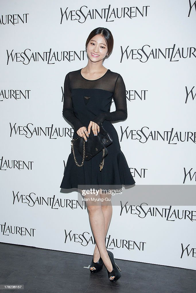 South Korean actress Bae Nu-Ri attends during the 'Forever Youth Liberator' launch party hosted by Yves Saint Laurent Skin Care at the Cais Gallery on August 27, 2013 in Seoul, South Korea.