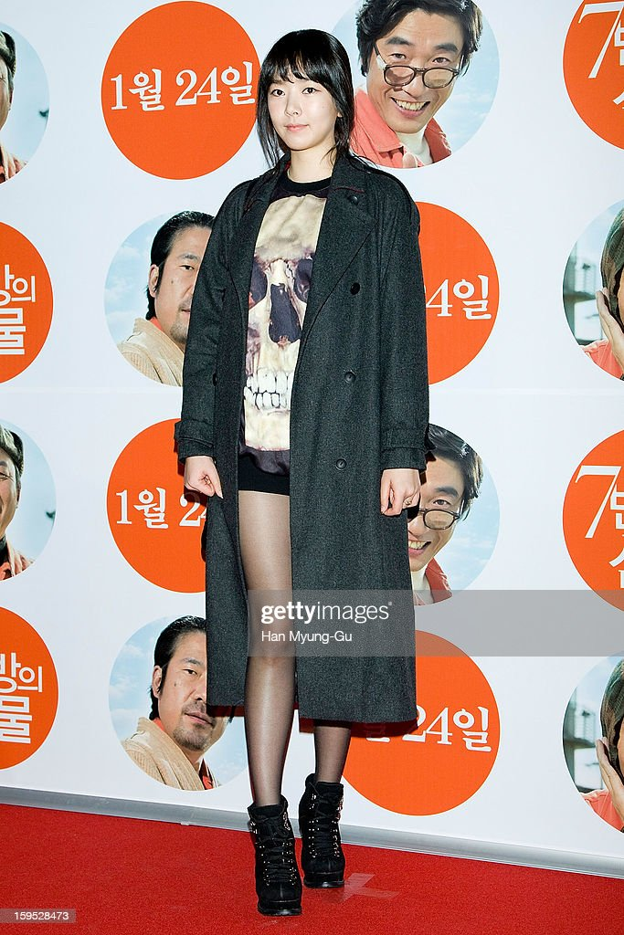 South Korean actress Bae Seul-Ki (Bae Seul-Gi) attends the 'Miracle In Cell No.7' VIP Screening at Mega Box on January 14, 2013 in Seoul, South Korea.