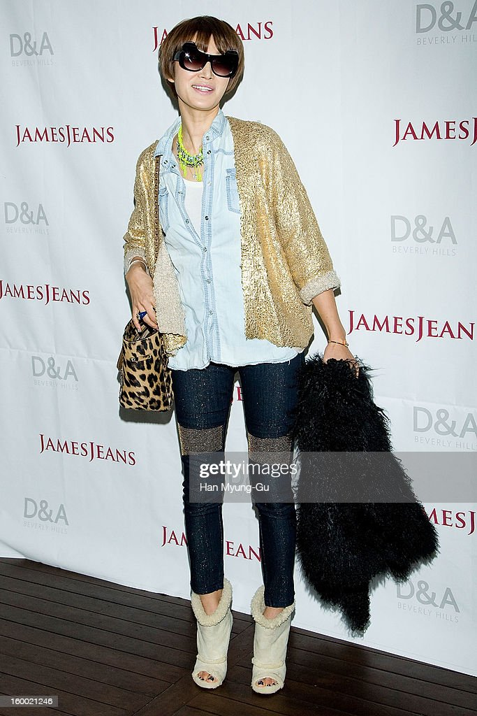 South Korean actress Byun Jung-Soo (Byun Jung-Su) attends the 'JamesJeans' Flagship Store opening on January 24, 2013 in Seoul, South Korea.