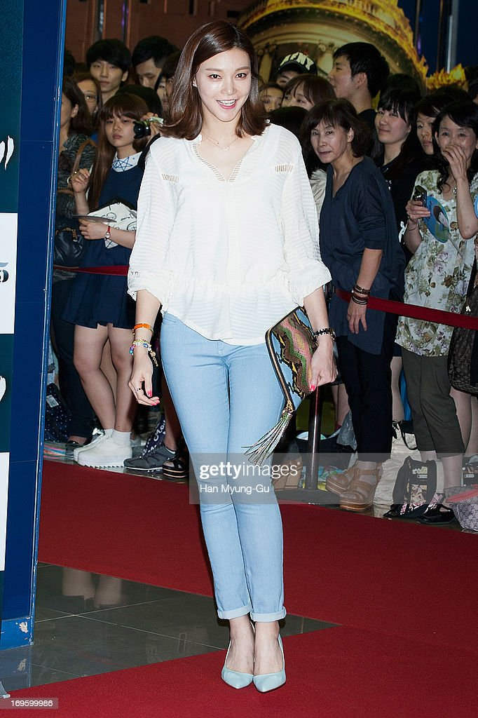 South Korean actress Cha Ye-Ryeon (Cha Ye-Ryun) attends the 'Secretly Greatly' VIP Screening at Mega Box on May 27, 2013 in Seoul, South Korea. The film will open on June 05 in South Korea.