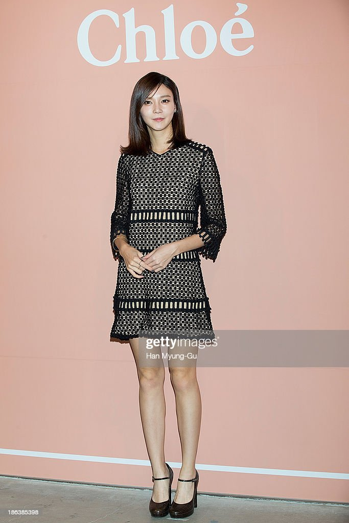 South Korean actress Cha Ye-Ryun (Cha Ye-Ryeon) attends Chloe's perfume 'ROSES DE CHLOE EDT' launch party at Space Gallery on October 30, 2013 in Seoul, South Korea.