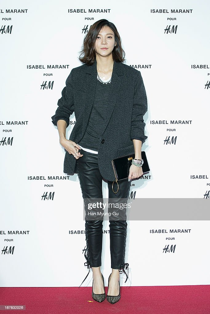 South Korean actress Cha Ye-Ryun (Cha Ye-Ryeon) attends Isabel Marant Pour H&M pre-shopping and party at Noon Square H&M Store on November 12, 2013 in Seoul, South Korea.