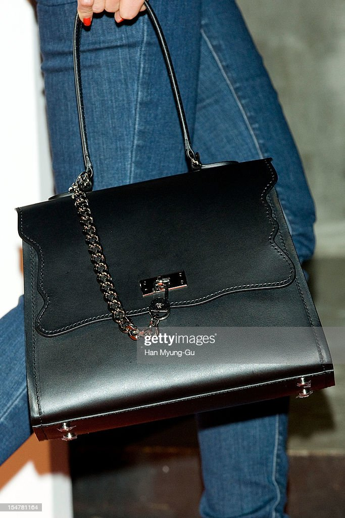 South Korean actress Chae Jung-An (Handbag Detail) attends the promotional event of 'Suecomma Bonnie' 2013 S/S Presentation on October 25, 2012 in Seoul, South Korea.