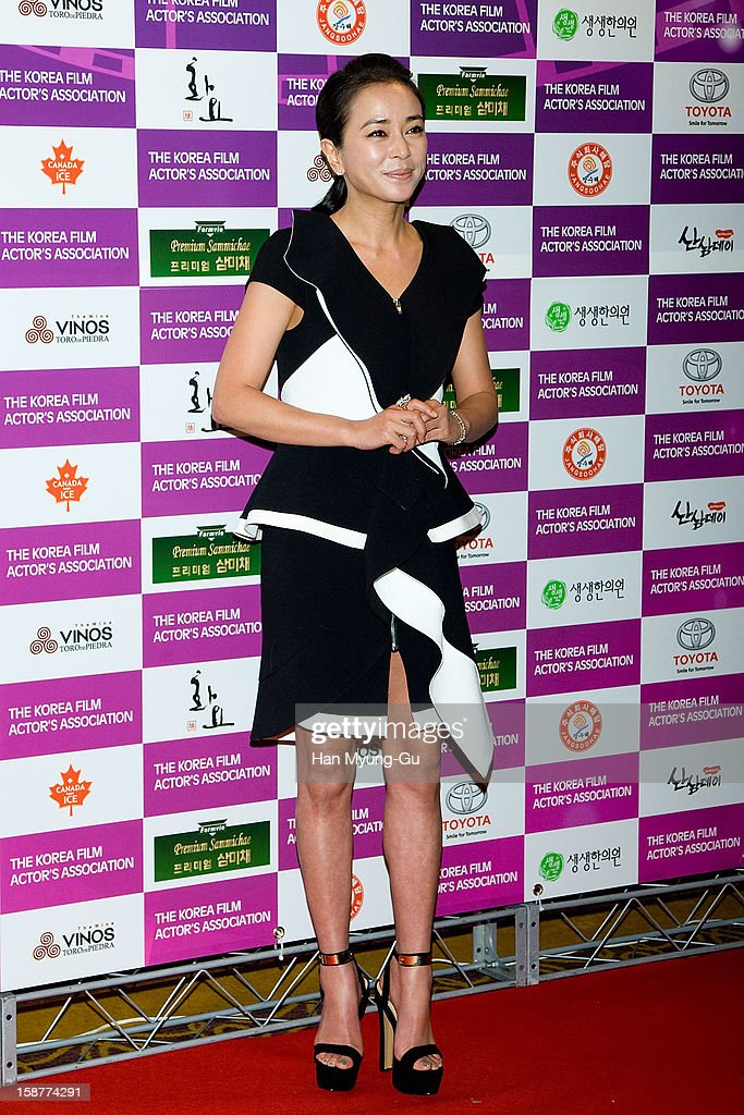 South Korean actress Cho Min-Soo attends the Year End Party hosted by The Korea Film Actor's Association at Lotte Hotel on December 28, 2012 in Seoul, South Korea.