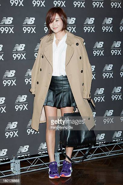 South Korean actress Choi GangHee attends the 'New Balance' 99X VIP Exhibition at CGV on September 9 2013 in Seoul South Korea