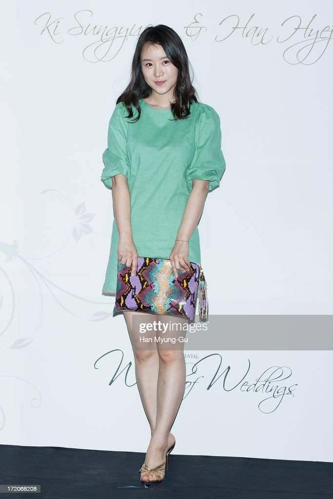 South Korean actress Choi Ja-Hye attends during the wedding of Ki Sung-Yueng of Swansea City at COEX Intercontinental Hotel on July 1, 2013 in Seoul, South Korea.